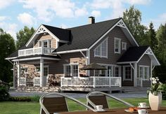 Kussamo Log Home the Cabin Plans, House Plans, Beautiful Buildings, Beautiful Homes, Open Space Living, Mansions Homes, Log Homes, Home Fashion, House Colors