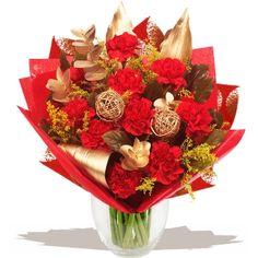 Christmas - Yuletide Bouquet of flowers www.eden4flowers.co.uk