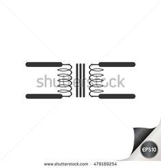 Electronic circuit symbols. Transformer.