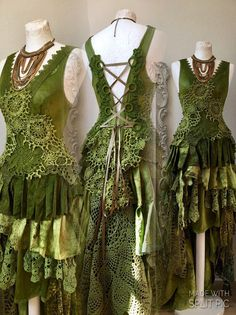 Boho dress green and turqoise, bridal gown for faries,Boho wedding dress rustic,bohemian wedding dress recycled lace,bohemian dress Pretty Outfits, Pretty Dresses, Beautiful Dresses, Boho Wedding Dress, Wedding Dresses, Gypsy Wedding, Bridal Gowns, Rustic Dresses, Fairy Clothes