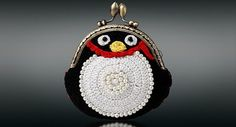 Crochet coin purse...my granddaughter loves penguins!!!