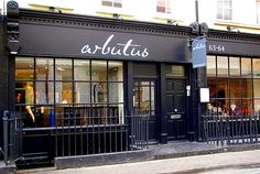Arbutus, Soho, new British  Amazing restaurant - get the rabbit, the pigs head terrine and chocolate soup for desert and then thank me later