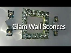 DIY GLAM MIRROR WALL SCONCES HOME DECOR. In this video I show you how to make these affordable & beautiful wall sconces that match the wall mirror I previously made. The link to the Wall Mirror video is . for watching Wall Mirror Video: . Link to my Glam Mirror, Diy Mirror, Dollar Tree Decor, Do It Yourself Home, Diy Wall Art, Wall Sconces, Mirrors, Diy Room Decor, Wall Decor