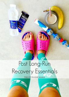 Post Long Run Recovery Essentials + Compression Sock Giveaway! The Fit Foodie Mama Race Training, Running Training, Running Humor, Training Equipment, Training Plan, Training Schedule, Triathlon Training, Exercise Equipment, Keep Running