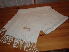 """Nice Royal Rossi 100% Cashmere Lt. Speckled Gray Scarf W/ Fringe 62"""" x 11"""" #RoyalRossi #Scarf"""