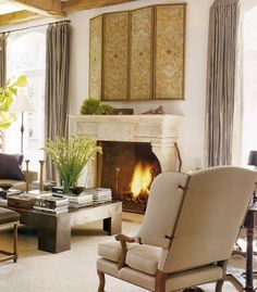 Jolting Unique Ideas: Tv Over Fireplace With Built Ins fireplace cover decorative.Limestone Fireplace Outdoor tv over fireplace stone. Tv Over Fireplace, Concrete Fireplace, Farmhouse Fireplace, Fireplace Design, Country Fireplace, Slate Fireplace, Cottage Fireplace, Fireplace Seating, Fireplace Kitchen