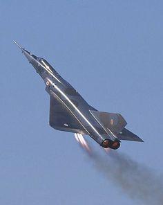 French Dassault Mirage IV supersonic bomber.
