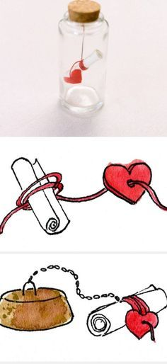 Message in Bottle Valentine | DIY Birthday Gifts for Boyfriend Anniversary