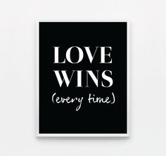 Black and White Love Wall Art Typography Poster