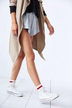 fashionfanclub:  Perfect Stripe Crew Sock