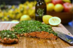 Roasted Salmon with Green Herbs Feature
