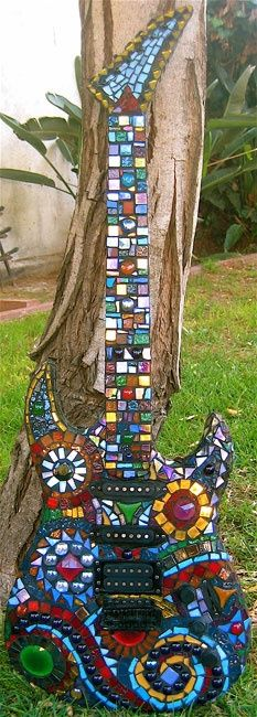 Mosaic electric guitar