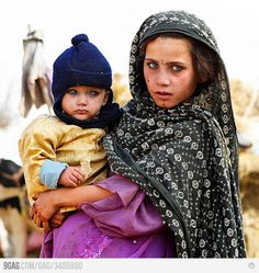 Afghanistan children (I think?), look at those eyes...