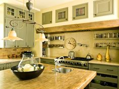 Picture Of Kitchen With Hawthorne Yellow Painted Walls