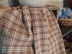 Antique 19thC plaid homespun fabric.