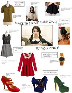 """Grab The Look: IU---Fans have fallen in love with IU's whimsical look for """"You and I"""", and it's a great addition to any wardrobe.    This vintage-inspired look centers around a cute one-piece dress. There are tons of vintage dresses out there, and the key is to find a fit for your body type that suits you just right. #allkpop #kpop"""
