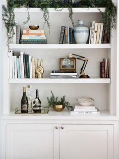 holiday book shelves