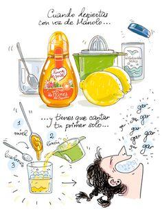 Cartoon Cooking: Cuando despiertas con voz de Manolo..