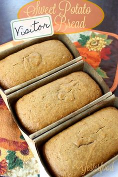 Yesterfood : Sweet Potato Visitor Bread