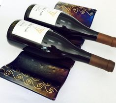 Wine Lover's Gift Wine Rack Glass Wine Rack Wine by GlassMusing