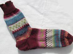 Socken - Bunte Socken Mia Gr. 40/41 - ein Designerstück von Lotta_888 bei DaWanda