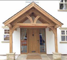 oak-porch-harrogate-1 House With Porch, House Front, Porch Oak, Porch Kits, Porch Ideas, Front Porch Design, Porch Designs, Front Porches, Porch Flooring