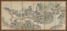 Ike Taiga | Orchid Pavilion Gathering; Autumn Landscape | Japan | Edo period (1615–1868) | The Met