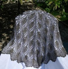 Finished Shawl - draped 02 by ThatLoganChick, via Flickr