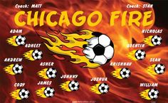 Fire-Chicago-154467  digitally printed vinyl soccer sports team banner. Made in the USA and shipped fast by BannersUSA. www.bannersusa.com