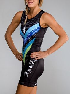 Betty Designs Womens World Champion 1pc Trisuit - Betty --Designs - Betty Designs--- For when I do a triathlon