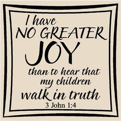 I love that this is true for my children and grandchildren.