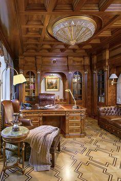 Executive Office with Custom Millwork by Francesco Molon