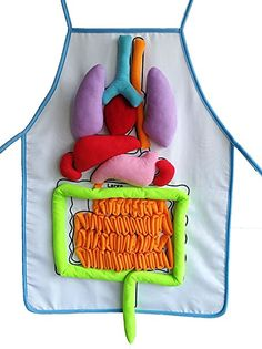 What's Inside Me Anatomy Apron Human Body Organs Awareness Educational Insights Toys for Children Preschool Science Homeschool Teaching Aids