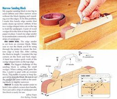Make Sanding Block - Sanding Wood