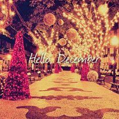 Vem com tudo Dezembro, vem nos encher de alegria e amor!