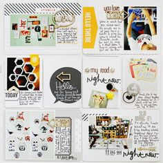 Project Life Week 36 using Midnight core kit.