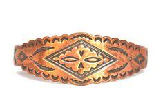 Vintage Copper Tribal Cuff Bracelet