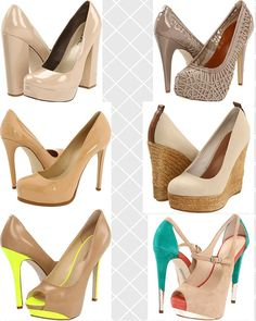 Leg Lengthening Nude Heels - final day of shoe style rules for summer 2012