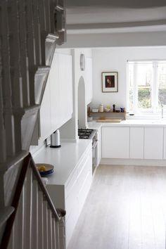 White Corian counter, Kitchen in Victorian house in Stoke Newington, London | Remodelista