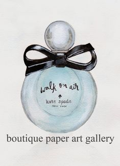 Fashion illustration, Kate Spade Walk on Air