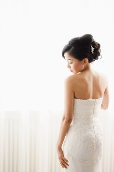 We are Peter and Ivana Miller Bridal Poses, Destination Wedding Photographer, Hair Inspiration, One Shoulder Wedding Dress, Wedding Hairstyles, Hair Makeup, Romantic, Wedding Dresses, Photographers
