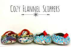 Make:  Cozy Flannel Slippers