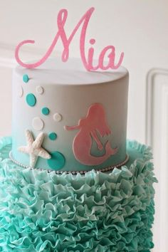 Mermaids are kind of a big deal right now with little girls. If your little one is asking for a mermaid party, then you will want to look through our list of 8 mermaid birthday cakes. Whether yo Mermaid Birthday Cakes, Little Mermaid Birthday, Little Mermaid Parties, Themed Birthday Cakes, Mermaid Cakes, Birthday Parties, 3rd Birthday, Birthday Ideas, Birthday Cakes For Girls