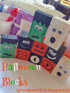 3 Princesses and 1 Dude!: Halloween Wooden Blocks.