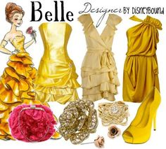 Disney Couture! Not sure that I would actually wear any of this. I just love Belle :)
