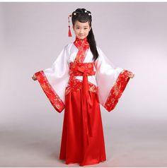 Китайский hanfu dress рождество танцевальные костюмы для детей традиционный китайский тан древний костюм классический детские девушки купить на AliExpress