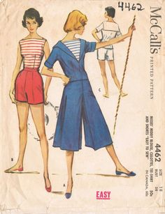 McCalls 4462  Vintage 1950s Sewing Pattern  Size 18  Bust