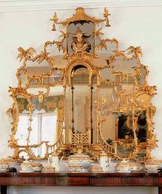 The original Badminton Chinese bedroom mirror – bought by Doris Duke in 1965 and sold at Christie's after her passing.   The mirror used in the Victoria and Albert museum is not this one – but similar.