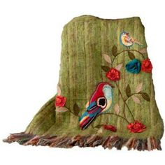 I pinned this Birds Throw from the Home is Where the Heart Is event at Joss and Main! Apartment Interior Design, Interior Design Living Room, Sewing Crafts, Diy Crafts, Joss And Main, Patch, Bird Art, Bird Feathers, Beautiful Birds