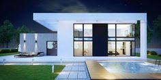 Wizualizacja CPT Koncept 30 CE Modern House Facades, Modern House Plans, Modern House Design, Home Building Design, Building A House, House Construction Plan, Duplex Design, Beautiful House Plans, Modern Architects